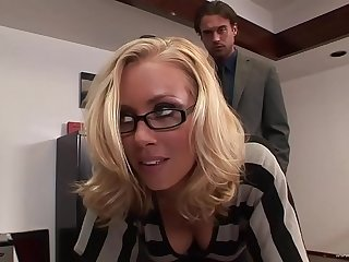 This crazy and horny couple adore having hard mating in the office after work