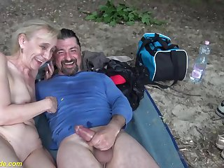 ugly 85 years old grandma gets rough open-air fucked hard by their way big bushwa toyboy