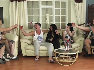Tattooed Emma Louise and her mature sluts in a hardcore orgy