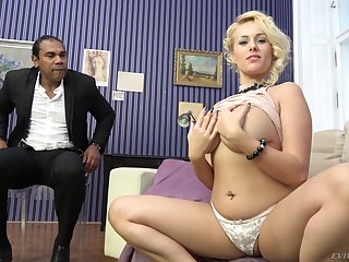 Full-grown festival vixen Angel Wicky sprayed with cum all over say no to big tits