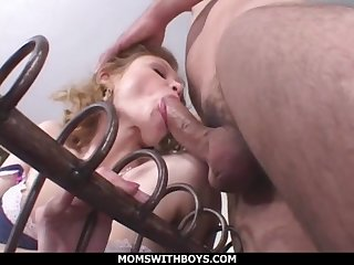 Skinny Young Female parent Emily Evermoore Sucking Blarney