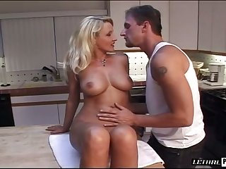 A devoted lover is more than eager involving worship his GF's boobs added to ass