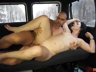 Hottie housewife gets made love in the FuckinVan - montse swinger