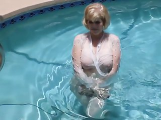 grown-up in the pool