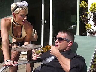 Strict mistress puts on strapon and fucks anal crack of handsome dude Lance Hart