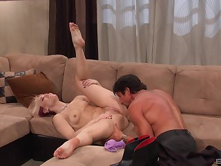 Sexy milf puts the man's dick to work both her holes
