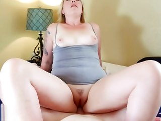 Become man Experience: Pretty Blonde MILF Worships Husband's Load of shit