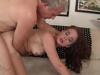 Mature redheaded beauty Sable Renae gets her sweet pussy plenary in doggystyle position