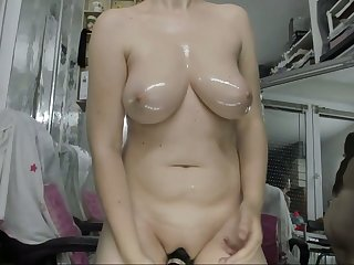 Oiled massage my mom and blowjob