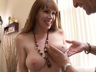Mature lady RayVeness strips and teases before having amazing sexual connection