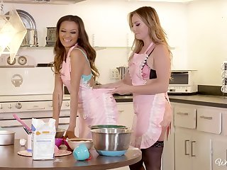 Kitchen is a difficulty perfect place be worthwhile for lesbian sex - Britney and Alex