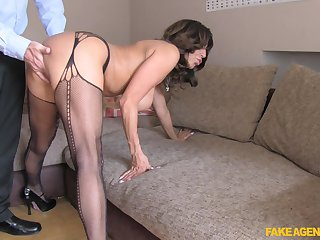 Mr Big mature Tara Red-letter day approximately stockings getting fucked from behind