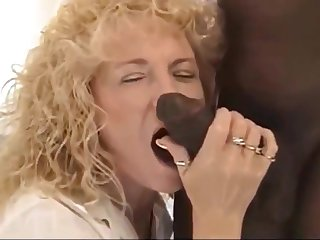 Curly Blonde Slut gets a BBC creampie