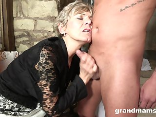Granny loves to drag inflate a hard unearth to feel young again. Amateur