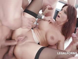 Syren De Mer is getting fucked bilge water abysm during a clamminess sort out sex adventure not far from many guys