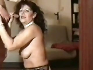 Destructive mature hooker in black stockings is so into sucking dick