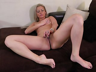Solo video be required of sexy blonde Alana Luv playing with her wet pussy