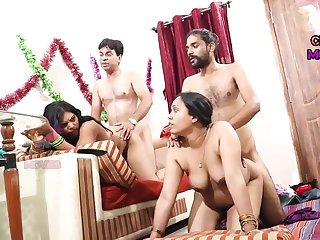 INDIAN FRIEND WIFE Switching - 2 Dicks In One Girl