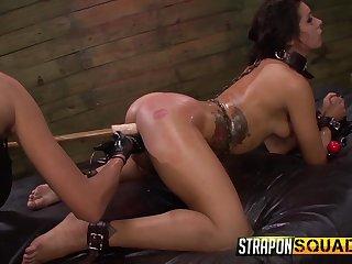 Anal Hook Double Penetration BDSM Amusement around Isa Mendez, Mila Blaze & Ava Kelly