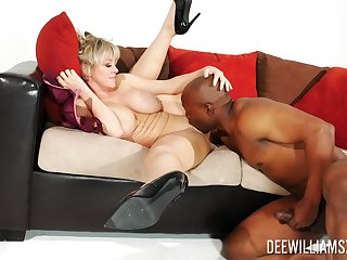 Dee Williams hardly keeps it professional respecting a black stud