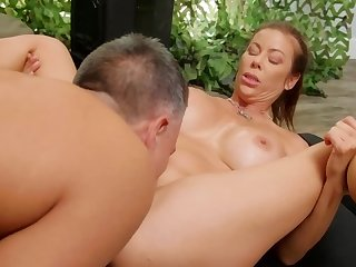 Busty bombshell's pussy is slammed till she reaches an orgasm