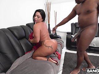 Closeup video of big irritant chick Monica Santhiago having sex