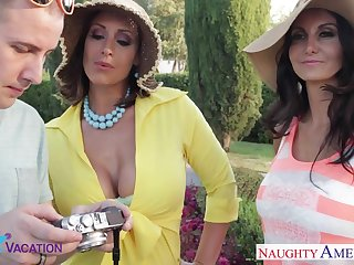 Small fry bangs two older ecumenical Eva Notty and Ava Addams