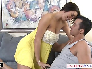 Whore wife with gorgeous booty Dylan Ryder thirsts for wild doggy