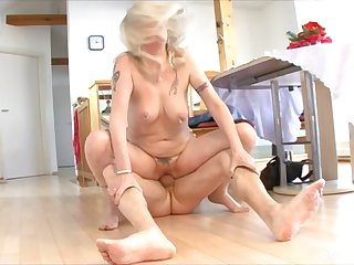 Dishonest mature gets fucked by her younger lover - compilation
