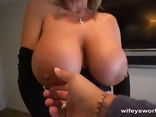 Her Boobs Juggle and She Guzzles Each time Droplet