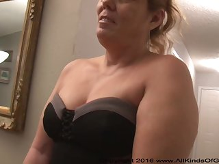 Mexican grandmother gilf with large ass attempts out for assfuck inexperienced soot
