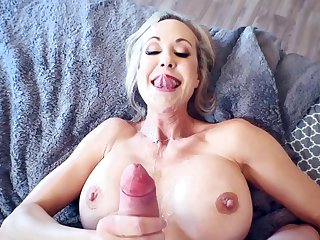 Top milf tries young dick in her unmitigatedly tight pussy